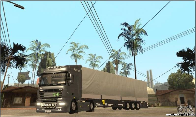 DAF XF для GTA San Andreas. Grand Theft Auto San Andreas. Road